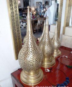 lámpara árabe mesa dorada