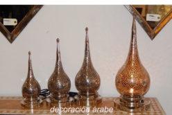 lámpara marroquí mesa alpaca