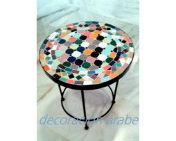 mesa marroquí mosaico multicolor