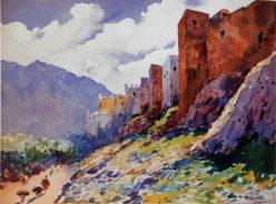 Poste Mariano Bertuchi. muralla de tetuán