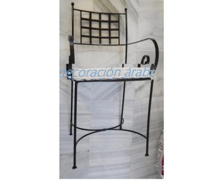 sillón marroqui hierro forjado