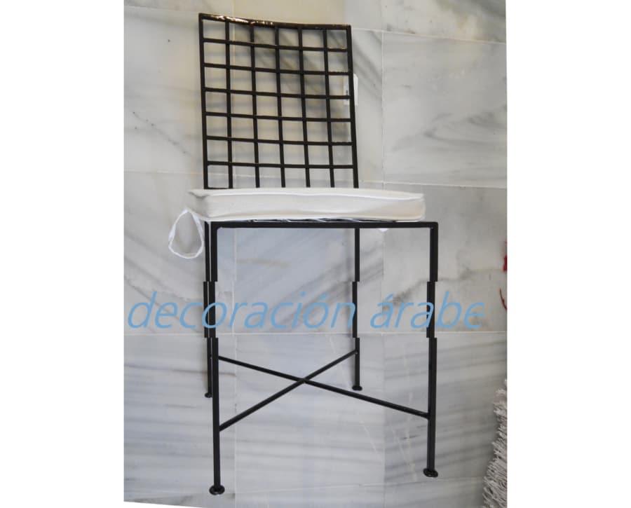Silla de hierro forjado artesanal marroqu canvas - Muebles en forja ...