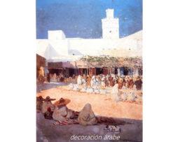 Poster Marruecos mercado del pan, Mariano Bertuchi