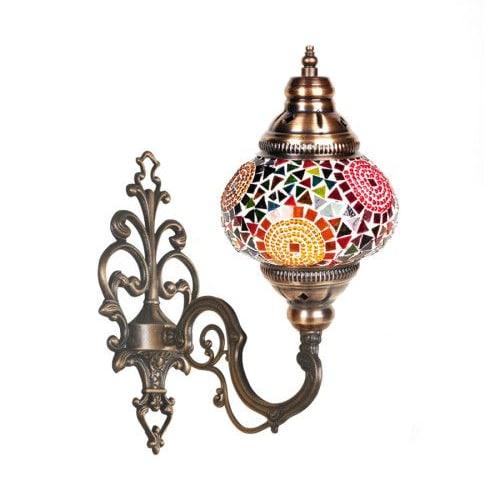 Aplique turco de pared mosaico varios colores - Apliques arabes ...