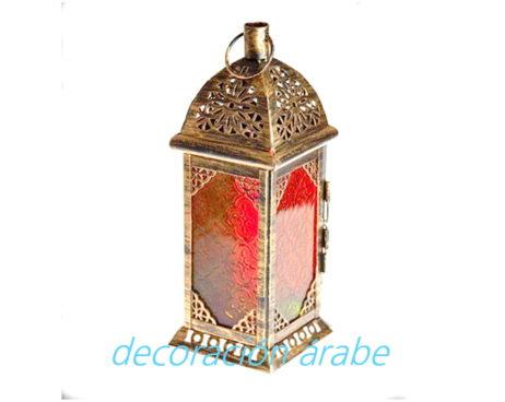 farol marroquí vela cuadrado