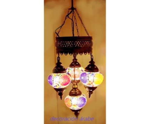 4 lámpara turca bolas techo mosaico 3RqLj45A