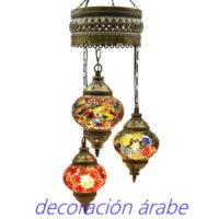 lámpara turca mosaico colores