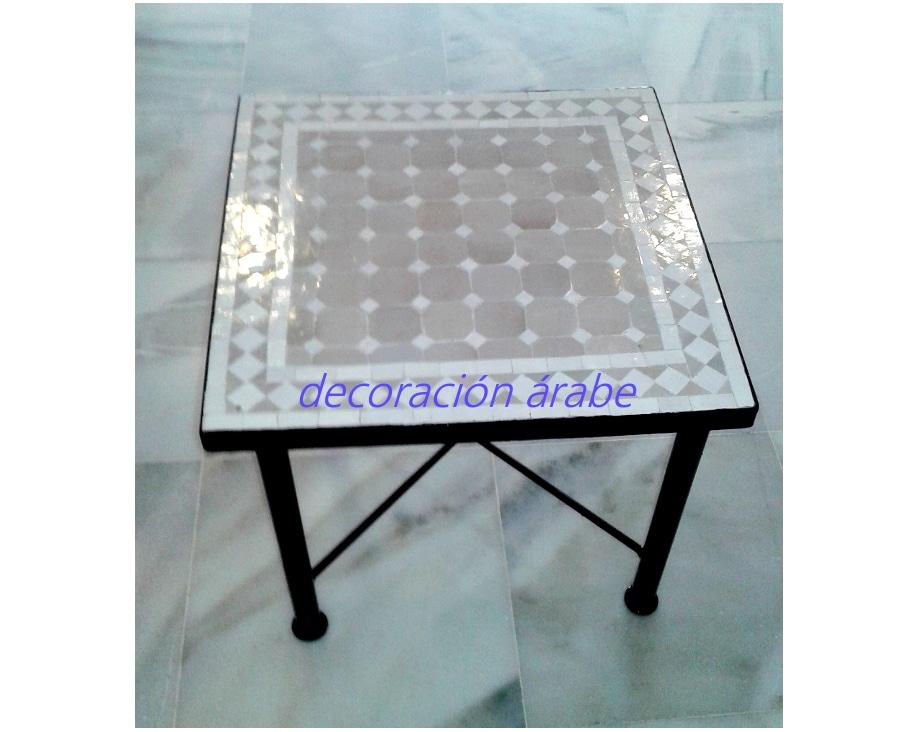 mesa mosaico marroqu cuadrada varios colores