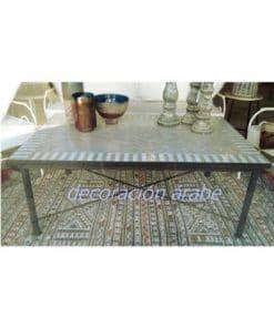 mesa mosaico y pies de forja para exterior