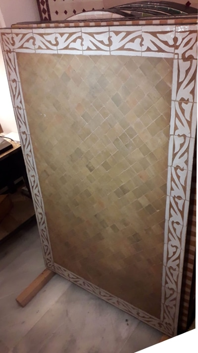 mesa mosaico rectangular marroquí