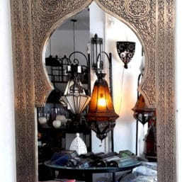 espejo árabe cromado