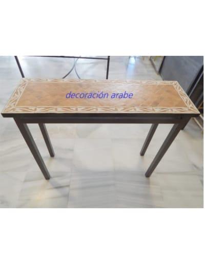 mesa exterior cerámica forja