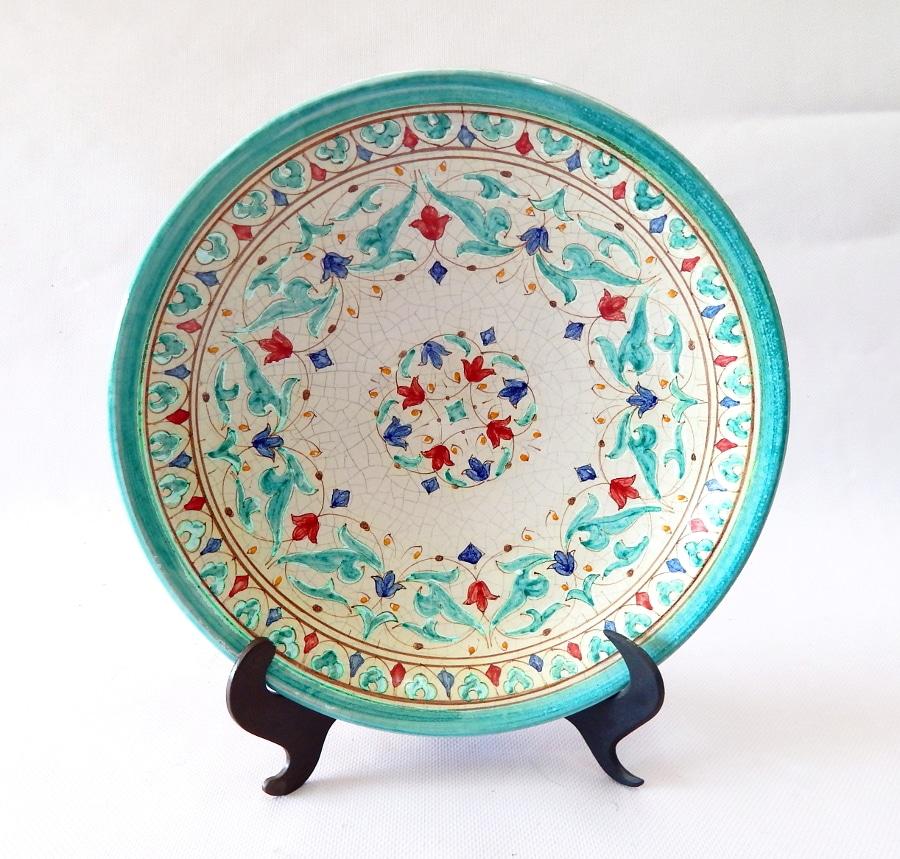 Plato cer mica rabe andaluza peque o for Tecnicas para esmaltar ceramica