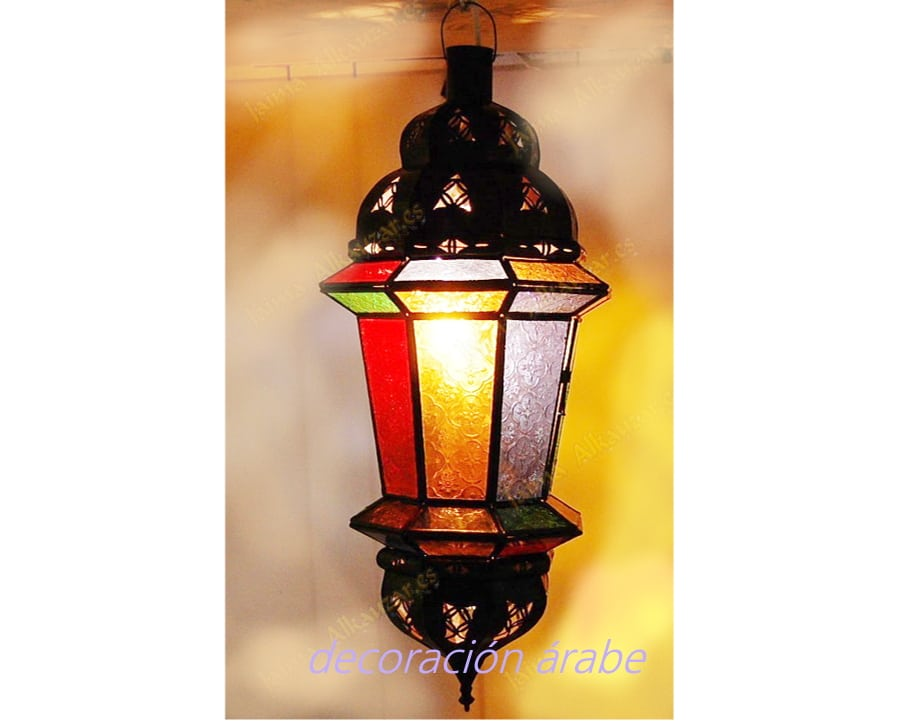 Aplique marroqu cristal de colores grande - Apliques arabes ...