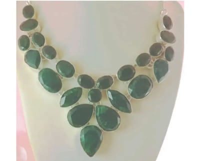 collar plata y jade artesanal