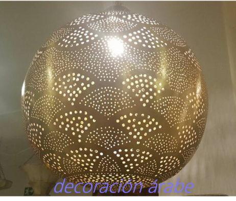 laḿpara cobre marroquí Abanico