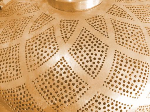 lámpara cobre detalle