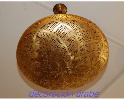 lámpara árabe cobre