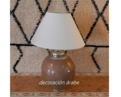 lámpara marroquí mesa marrón