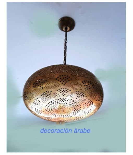 lampara techo dorada marroquí