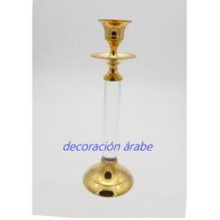 porta velas árabe bronce