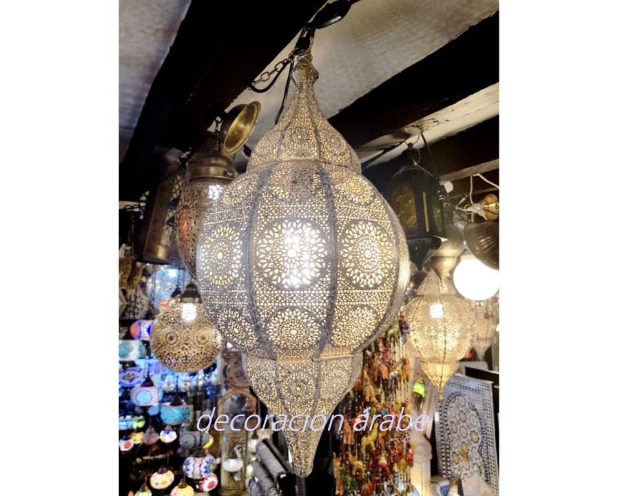lámpara techo india