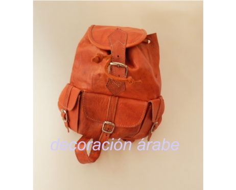 mochila cuero Marroqui