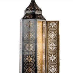 lámpara India negra detalle