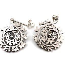 pendientes plata árabes