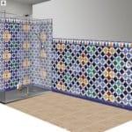 azulejos cuarto baño andaluz árabe