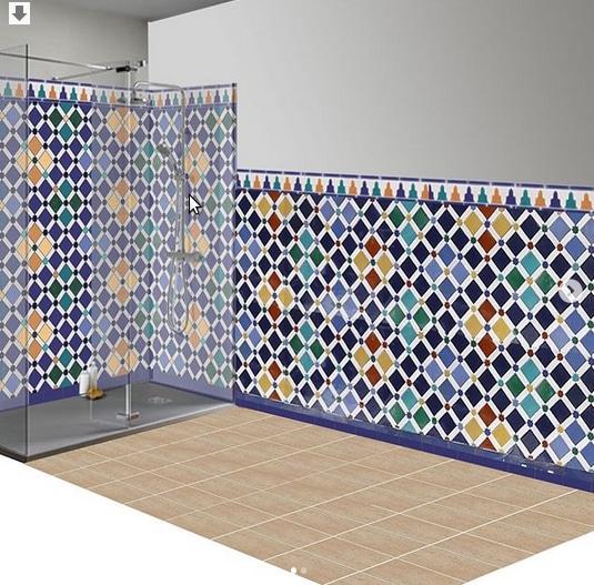 Cuarto de baño de cerámica árabe 1
