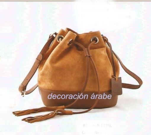 mochila piel marrón