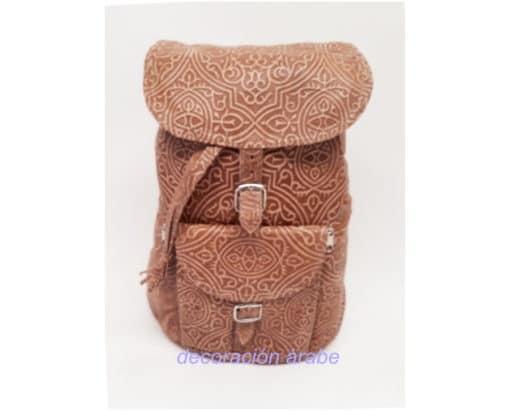 mochila cuero mujer