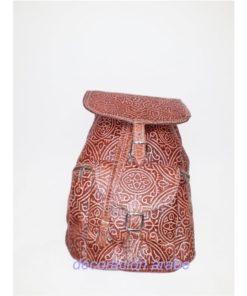 mochila cuero mujer marroquí