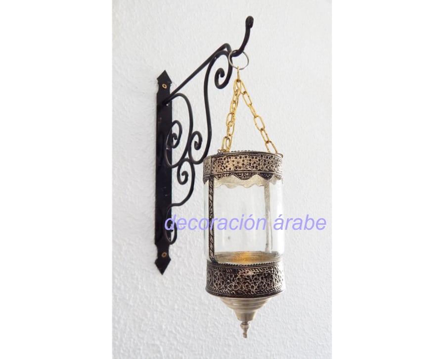 porta velas colgante alpaca cristal árabe