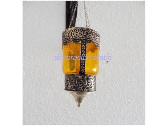 porta velas colgante cristal árabe