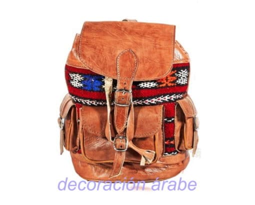mochila cuero marroquí étnica