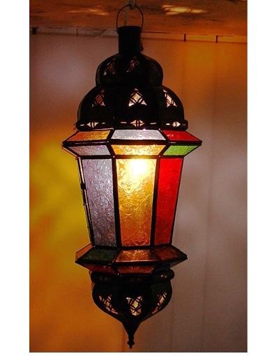aplique árabe cristales de colores y latón