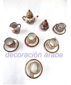juego de té cerámica andaluza arabe