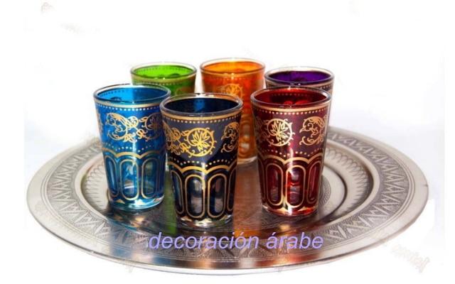 Vasos para el t marroqu multicolor for Vasos de te