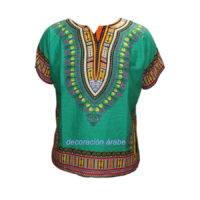 camisa batik africana verde