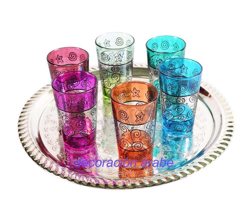 vasos para el té marroquíes