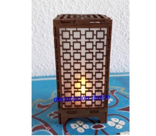 lámpara árabe celosía