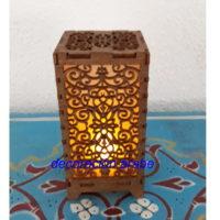 lampara de mesa árabe floral