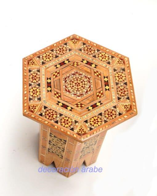 mesa taracea árabe