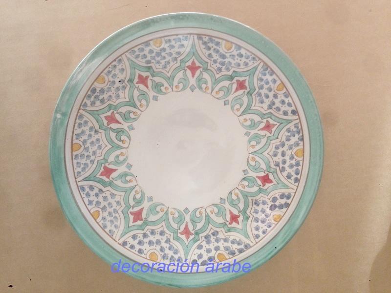 plato cerámica árabe andalusí