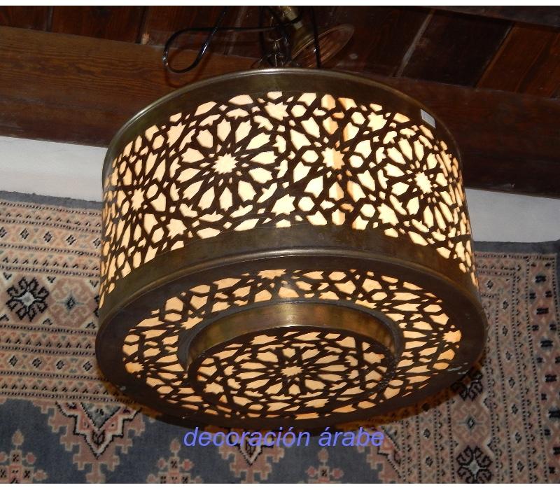 L mpara techo colgante rabe alhambra - Lamparas granada ...