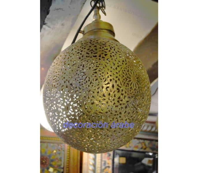 lámpara marroquí bronce bola