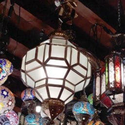 lámpara colgante árabe