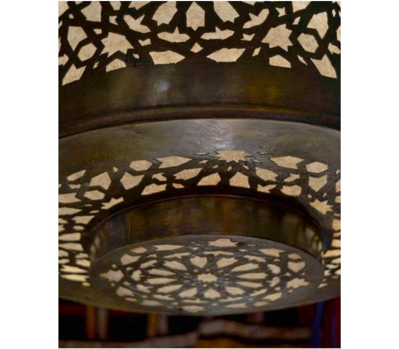 lampara bronce árabe